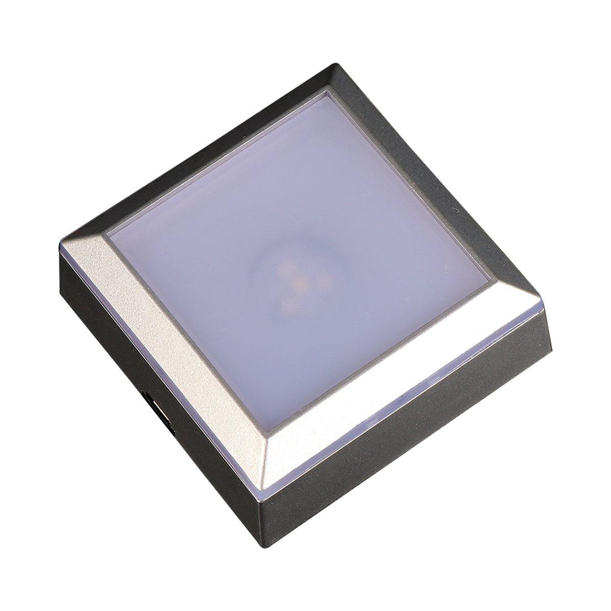 ledmomo Base luminosa de LED base a luz multicolor base pantalla a luz sensible con interruptor a sfioramento