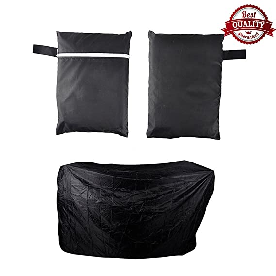 Amazon.com : Black Waterproof BBQ Grill Barbeque Cover Outdoor Rain Grill Barbacoa Anti Dust Protector For Gas Charcoal Electric Barbecue Bag (L) : Garden & ...