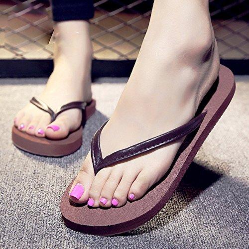 Mujeres Señoras Sandalias Sandalias de los pares sandalias de la manera sandalias de la manera para girs y muchachos Cómodo ( Color : Brown-womam , Tamaño : 39 ) Brown-womam