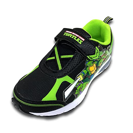 Nickelodeon Boys Teenage Mutant Ninja Turtles Shoe, Green/black Light-up (7