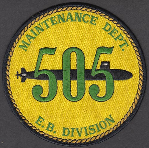 US Navy Nuclear Submarine Electric Boat Maintenance Dept 505 cloth patch