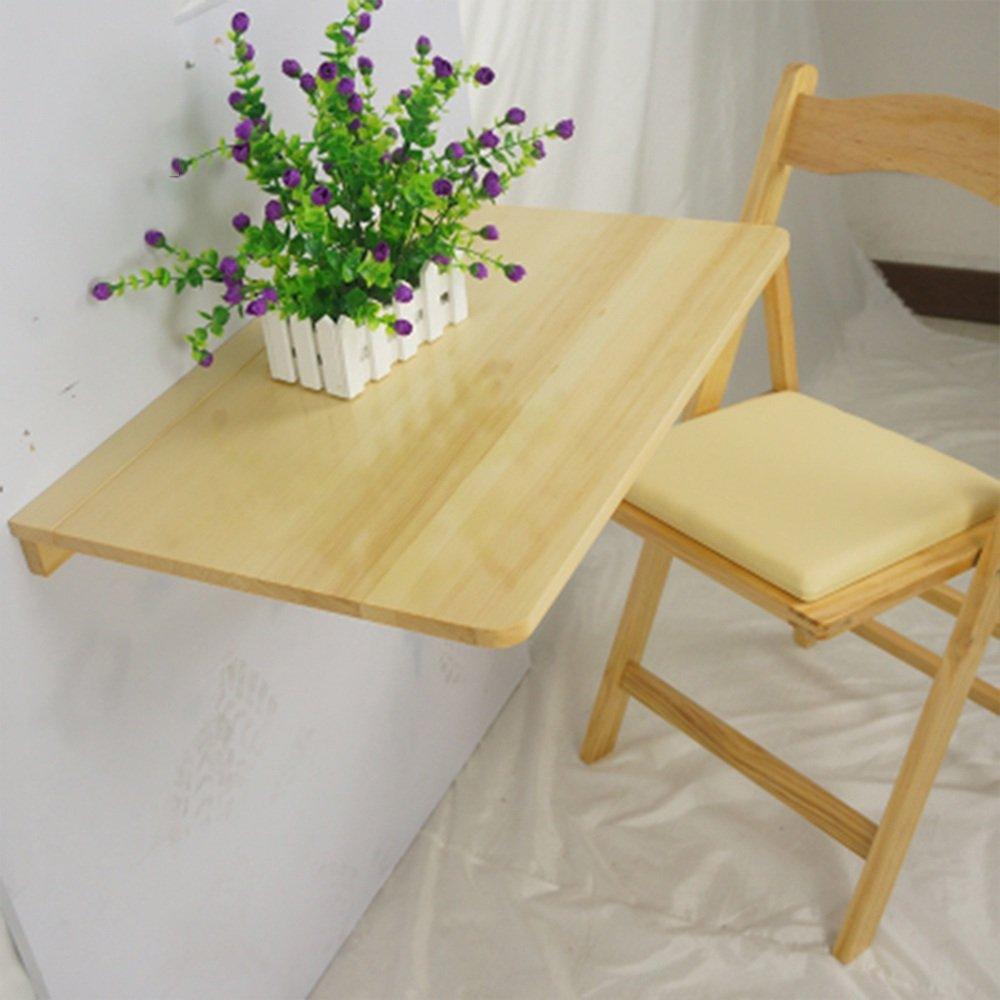ZZHF 折りたたみテーブル木製の壁掛けテーブル長方形の壁の机コンピュータデスク3色利用可能60 * 40cm デスク ( 色 : 木の色 ) B078TY7VSN 木の色 木の色
