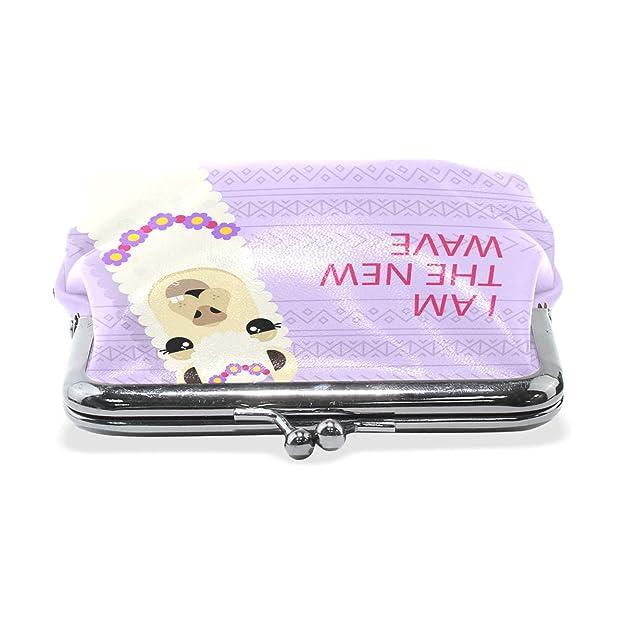 Amazon.com: JERECY Llama Alpaca - Monedero de piel, diseño ...
