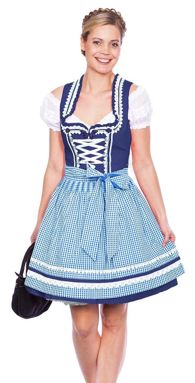 Krüger MADL Dirndl Miracle - Blau Weiß 50cm