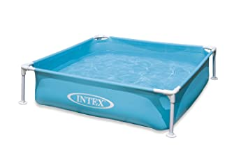 intex mini frame pool blue