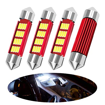 """BOODLIED (2020 update) 600Lumens Canbus 39mm(1.52"""") LED Bulbs Super Bright 4014 16SMD Chips Festoon Interior Dome Map Trunk Cargo LightsDE3423 DE3425 6411 6418 6423 6461 6413, (39mm): Automotive"""