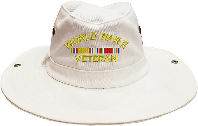 100/% Cotton Military Boonie Bush Hiking Outdoor Hat WW2 WORLD WAR 2 VETERAN