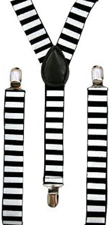 Fashion Black and White Horizontal Stripes Suspenders-1 piece