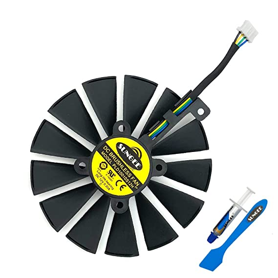 Amazon.com: Z.N.Z T129215SM 95mm 12V 0.25AMP Graphics Card Cooling Fan For ASUS ROG STRIX GTX 1050 1050Ti RX470 RX570 RX580 POSEIDON GTX 1080Ti P11G GAMING ...