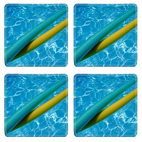 Luxlady Natural Rubber Square Coaster IMAGE ID 27572195 yellow and blue noodles in swimming pool (Pool Noodle Ideas)