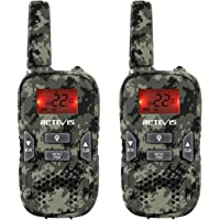 Retevis RT33 Walkie Talkie for Kid Handheld Two Way Radio with VOX Flashlight Function for Birthday Gift Christmas (1…