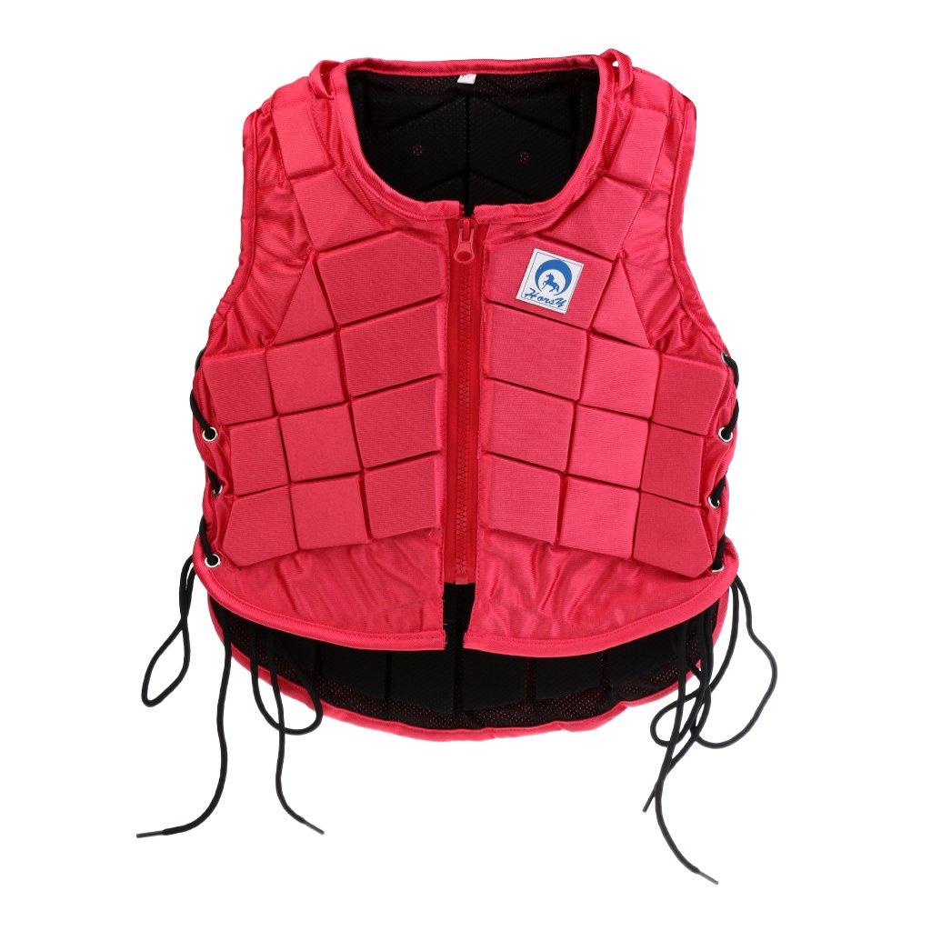 Sharplace Veste /Équestre Lat/éral Zipp/é Protecteur Gilet /Équitation Confortable Costume Randonn/ée