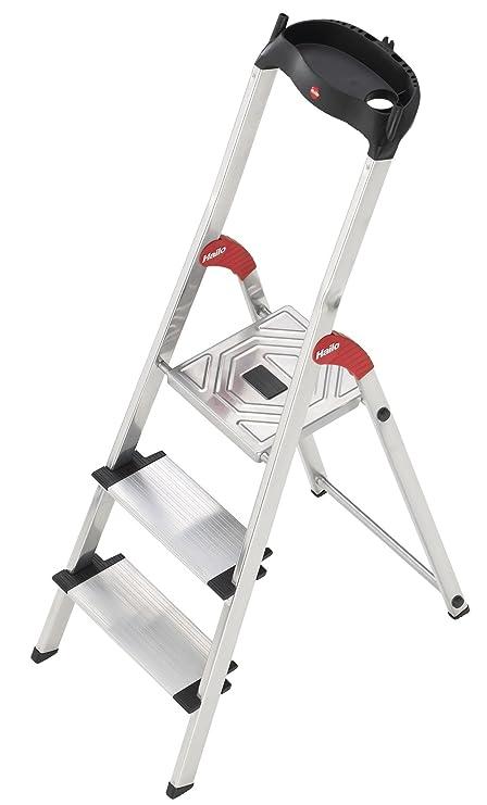 Hailo 5_8813-001 Haushaltsleiter Profistep XXL, 3 Stufen, Aluminium