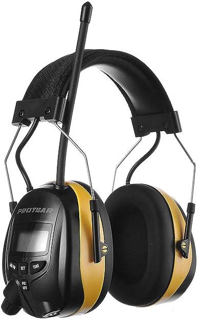 PROTEAR AM FM Radio Headphones,Safety Earmuffs