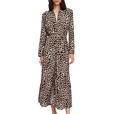 Abiti Eleganti Kimono.Laikete Abito Stampa Leopardo Donna Eleganti Vintage Kimono