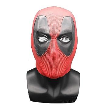 hcoser Halloween - Deadpool Máscara de látex para Disfraz de ...