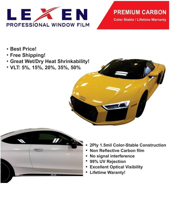 LEXEN 2Ply Premium Carbon 20'' X 100FT Roll Window Tint Film Auto Car (5% Limo (Darkest Shade)) by LEXEN (Image #6)