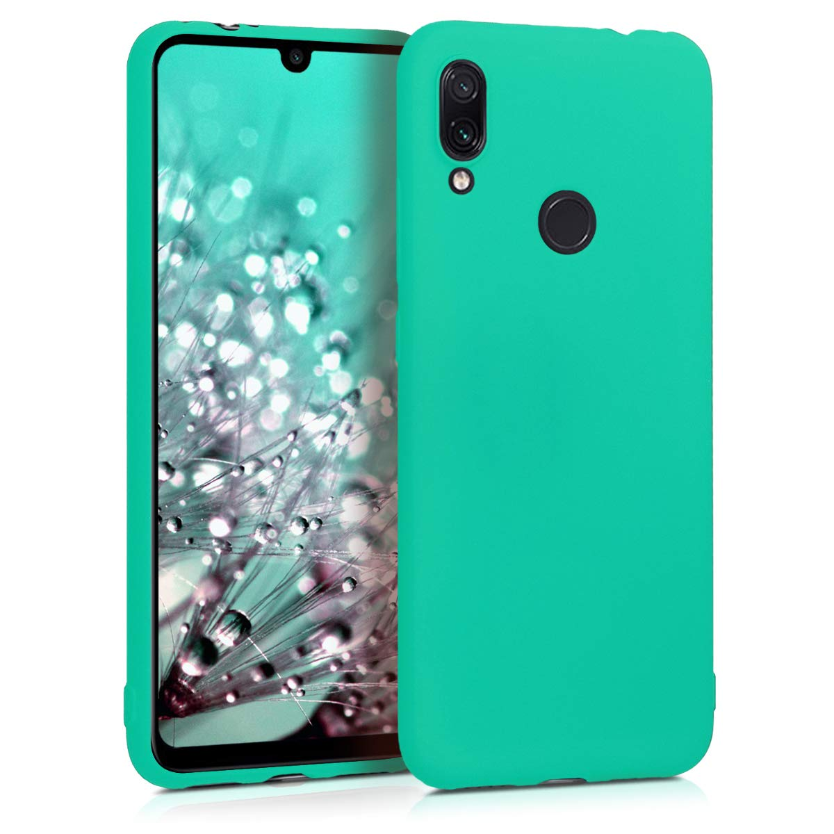 kwmobile TPU Silicone Case for Xiaomi Redmi Note 7 / Note 7 Pro - Soft Flexible Shock Absorbent Protective Phone Cover - Neon Turquoise