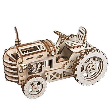 Autopropulsados Niños Con Láser Juego Para 3d Cortado Rompecabezas Mecánica Construcción De Robotime Kits Madera Modelo 0OwkPN8nX