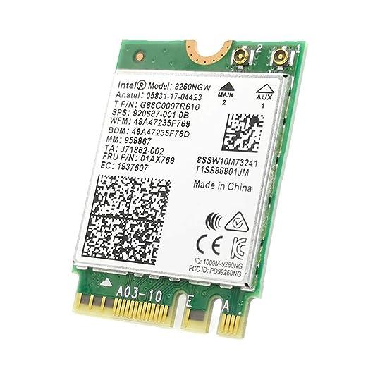 Blue-Yan 1.73Gbps Inalámbrico 9260NGW NGFF Tarjeta WiFi en ...