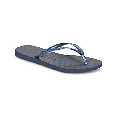 0121d83afcfb Havaianas Slim Womens Flip Flops - Navy Blue  Amazon.co.uk  Shoes   Bags