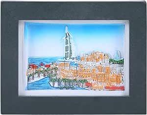 Pch Stone Decorative Magnetic Frame - Cr-63-147-3, Multi Color
