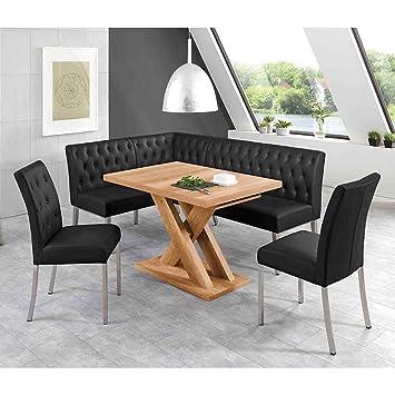 Pharao24 Esszimmer Sitzgruppe Mit Eckbank Und Ausziehbarem Tisch