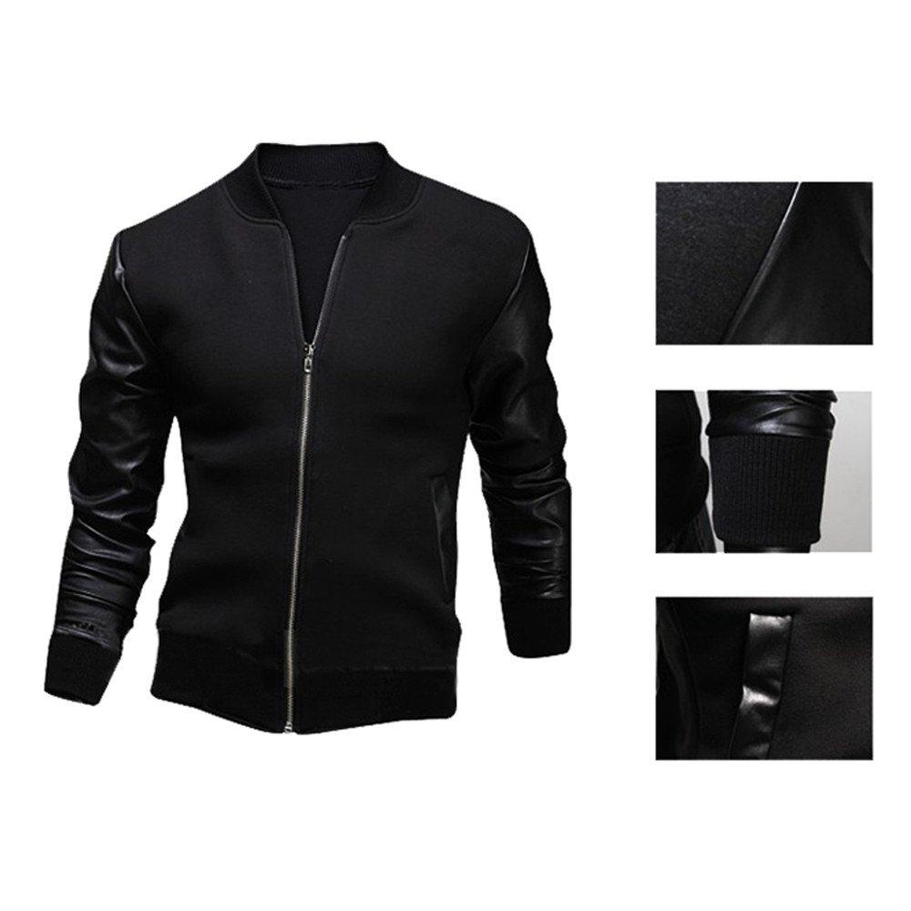 Mens Jacket Coat Autumn Winter Slim Collar Sweatshirt Coats Mens Zip Pocket Fit Parka Jackets Overcoat Outwear Blouse