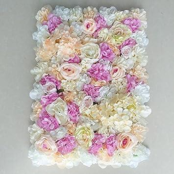 Jiale3536 60x40 Cm Mur De Fleurs Artificielles Mariage Fond