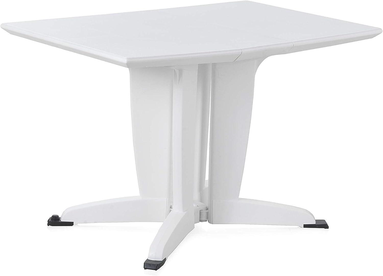 Shaf 55008 Mesa Plegable 2-4 Personas, Blanco, 81 x 55 x 23 cm
