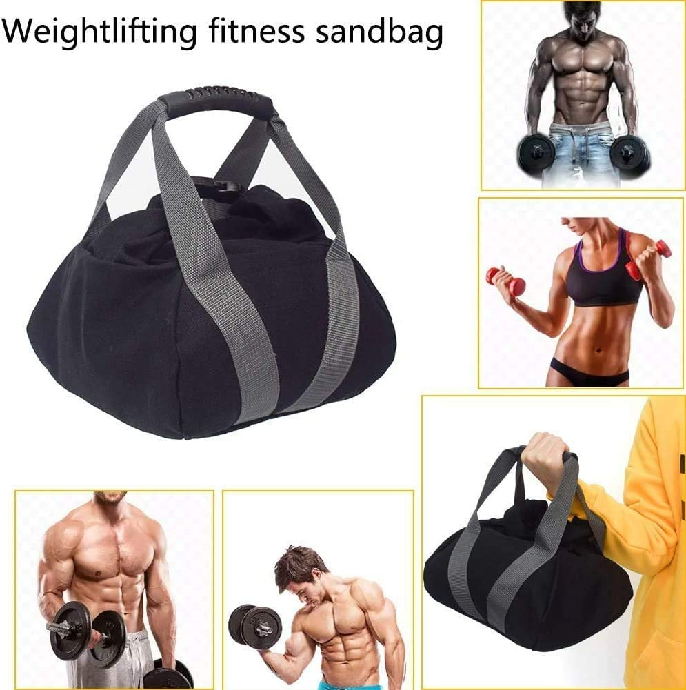 sgfbhd Adjustable Canvas-Kettlebell-Sandbag wtih Handle for Training Home Training, Yoga, Fitness