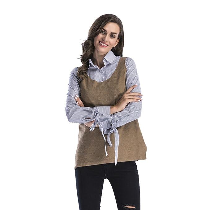 NiSeng Donna Gilet Girocollo Gilet Maglia Maglione Smanicato Pullunder  Gilet Maglieria Senza Maniche Top  Amazon.it  Abbigliamento f1fb51d58ac