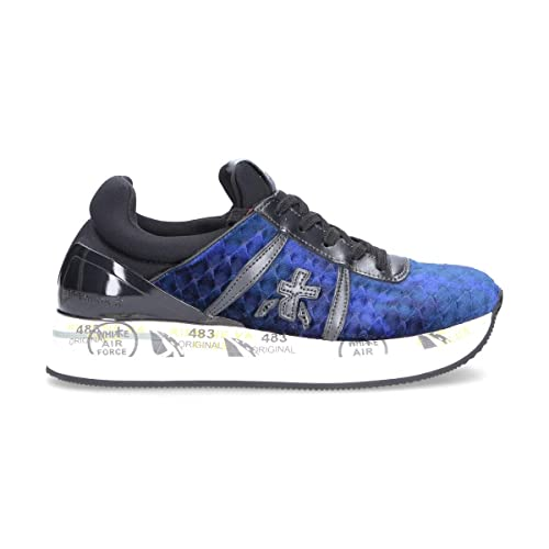PREMIATA Damen LIZ3354 Blau Stoff Sneakers  Amazon.de  Schuhe ... e898a5ab74