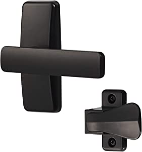 Ideal Security Inc. SKAJLBL AJ Lever Set for Storm and Screen Doors Modern Touch, Easy to Install, 2-Piece, Black