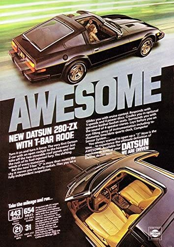 Promotional Advertising Poster 1980 Datsun 280ZX
