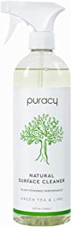 product image for Puracy Natural All Purpose Cleaner, Streak-Free Household Multi-Surface Spray, Nontoxic, Green Tea & Lime, 25 Fl. Oz (Pack of 1)