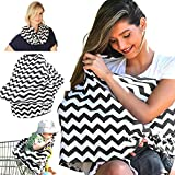 Nursing Scarf, Breastfeeding Cover (Mother-Baby Bond), Baby Car Seat Canopy, Stroller Cover, Shopping Cart Cover. Breathable Fabric, Use it for Privacy While Nursing Your Baby by Nevons's store