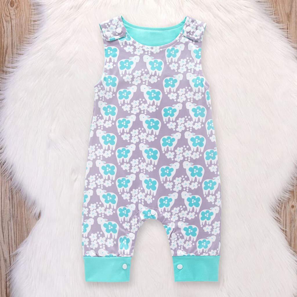 MRURIC Infant Baby Jungen M/ädchen Cartoon Animal Print Strampler Overall Outfits Set Kleidung,Jumpsuit Sommerkleidung f/ür Sommerkleidung S/äugling Schlafanzug Spielanzug Overall Walkoverall