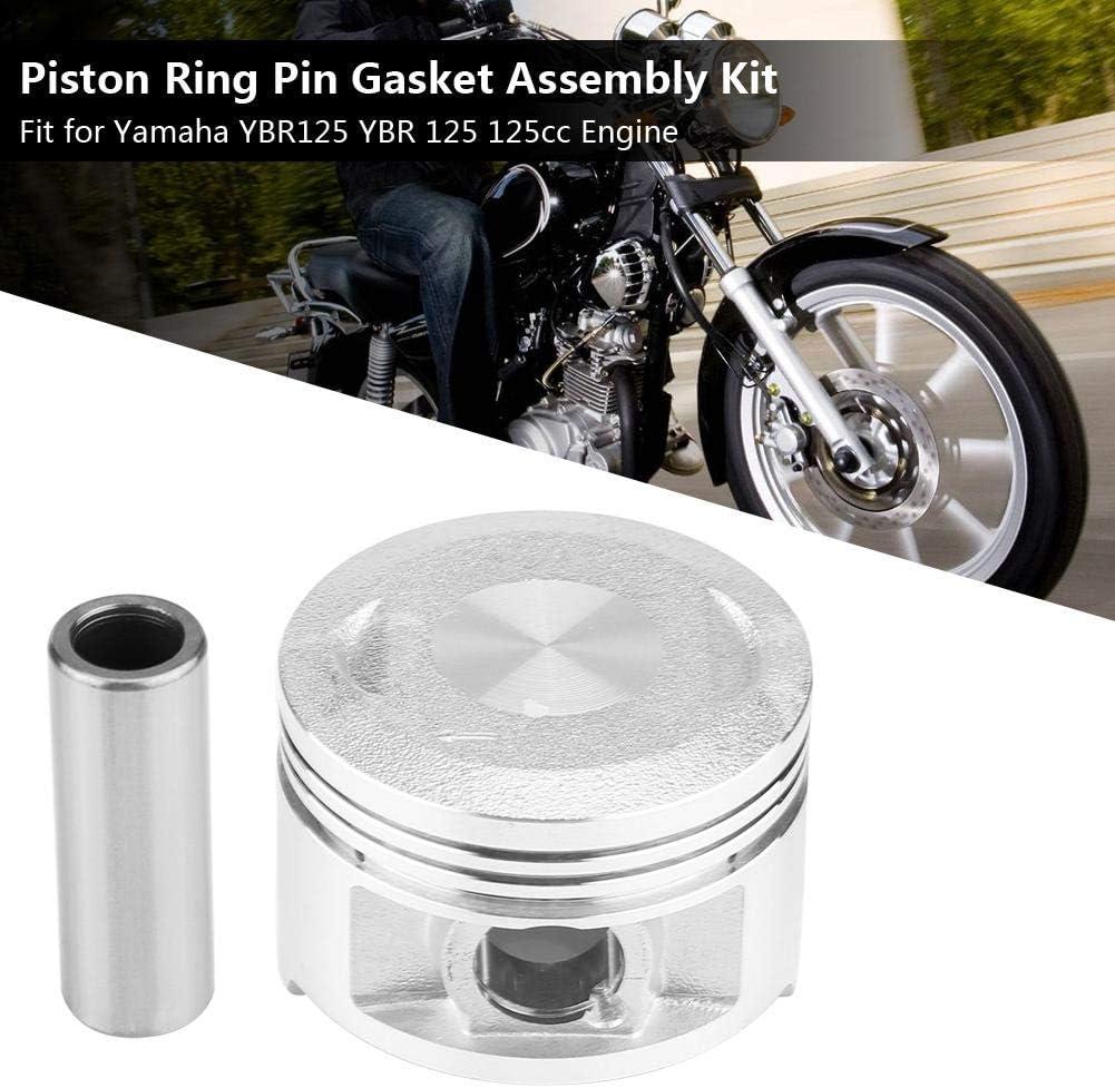 Kit anello pistone kit assemblaggio guarnizione perno anello pistone moto per motore Yamaha YBR125 YBR 125 125cc