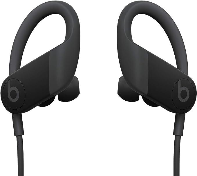 Écouteurs sans Fil Powerbeats Haute Performance - Puce d'Écouteurs Apple H1, Bluetooth Classe 1, 15 Heures D'écoute, Écouteurs Résistants à la Transpiration - Noir (Dernier Modèle)