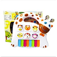 TEMSON Farm Style Animal Farm Music Piano Toy Musical Educational Kids Gift (Color May Vary)