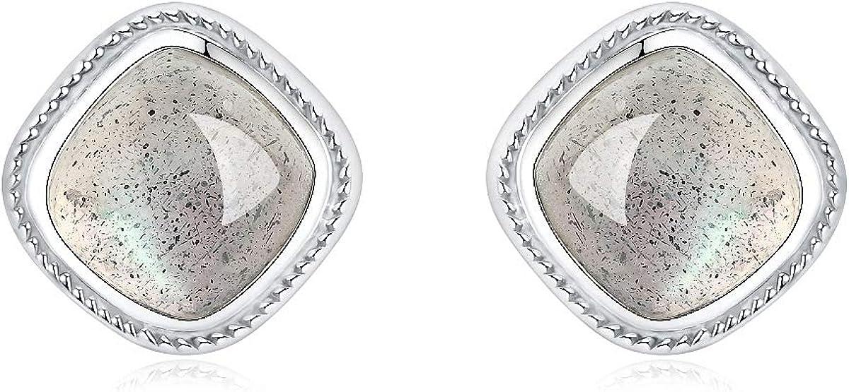 Pendientes Lotus Fun S925 de plata de ley retro, Thai, de piedras preciosas naturales, cuadrados, personalidad, temperamento, joyas para mujeres y niñas