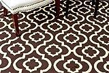 3028 Dark Gray Moroccan Trellis 2'0x3'4 Area Rug