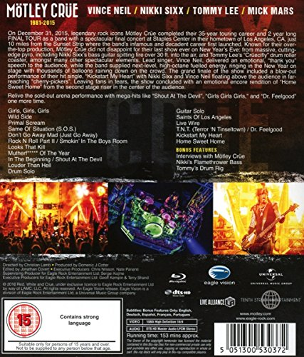 motley crue the end dvd release date