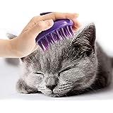 [Soft Silicone Pins] CELEMOON Ultra-Soft Silicone Washable Cat Grooming Shedding Massage/Bath Brush - Safe & No…