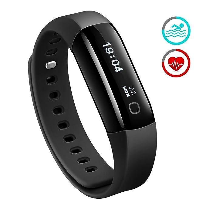 Mpow Pulsera de Actividad, Pulsómetro Podómetro Inteligente, Fitness Tracker Monitor de Actividad Ritmo Cardiaco Pasos y Calorías, Rastreador del ...