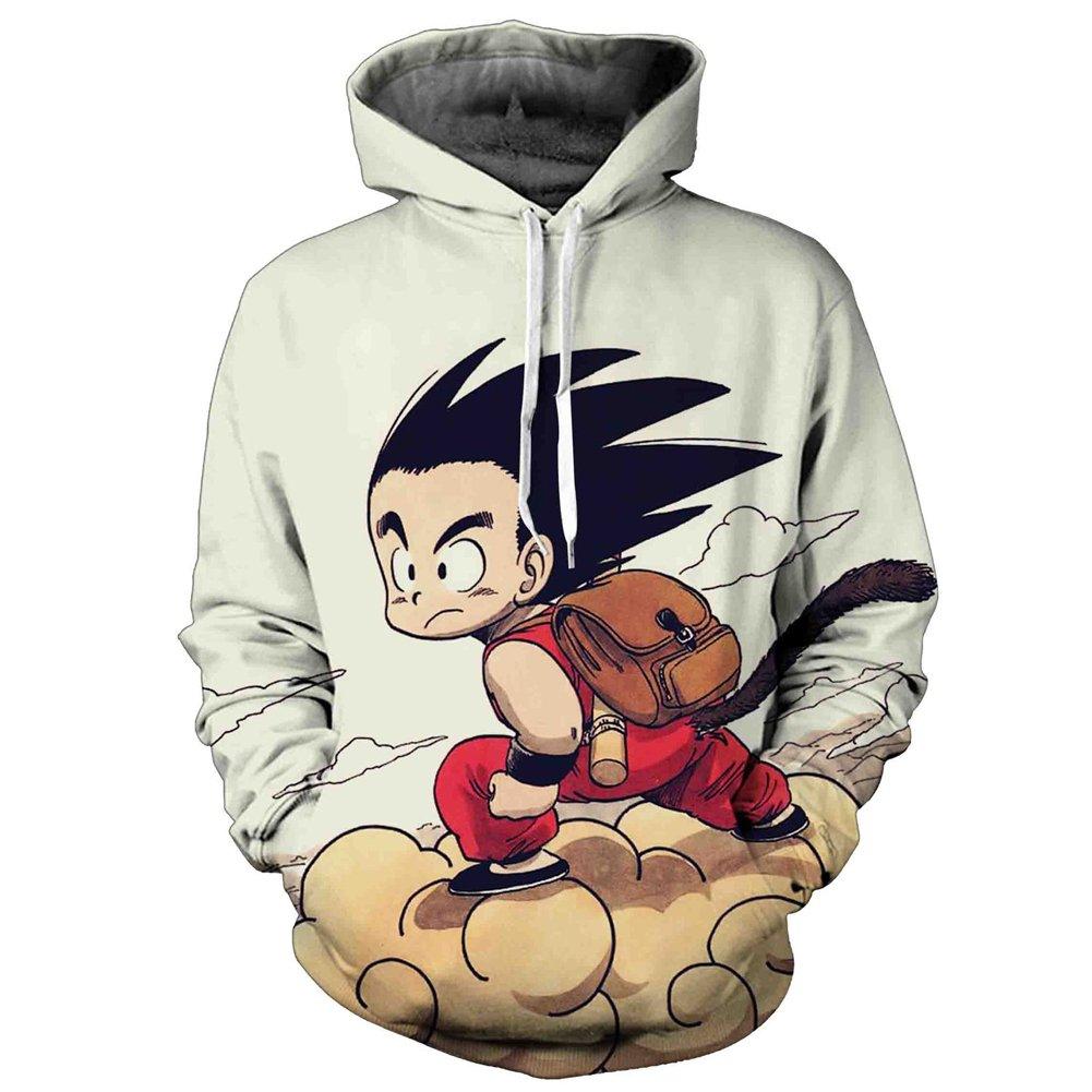 Yangxinyuan Unisex Hoodies Dragon Ball Z Goku 3D Print Pullover Sportswear Sweatshirt Tops (07, M)