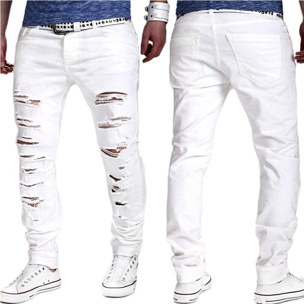 Mens Casual Sport Pants Slim Jean Shaded Resistant Trousers Stretch Skinny Straight Outdoor Plaid Joggers Sweatpants