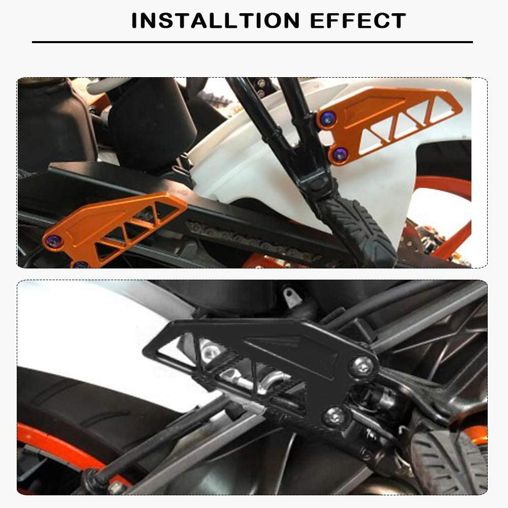 LJBusRoll Motorcycle for KTM DUKE 250 390 2017 2018 2019 Aluminum Front Rear Foot Peg Heel Protective Cover Brake Cylinder Guard 250 390 DUKE Accessories Orange