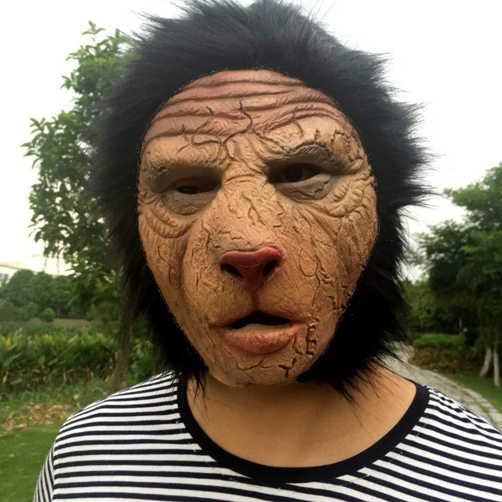 Circlefly Halloween-Tier Maske Horror Ape Wilden Grimasse Scary Latex Maske